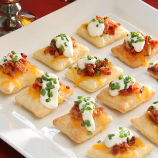 Bacon and Cheddar Puff Pastry Crisps Recipe