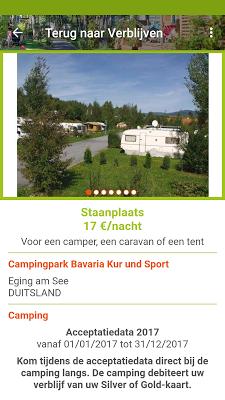 Camping Travel Club gids - screenshot