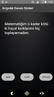 screenshot of Kırgınlık Sözleri