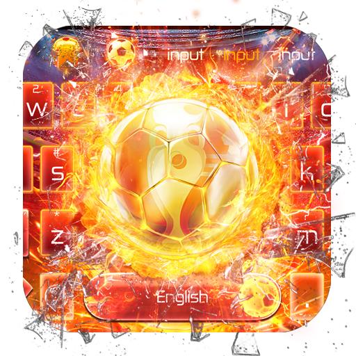 Triumph Gold Football Keyboard Theme