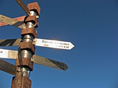 Cape Point distance sign