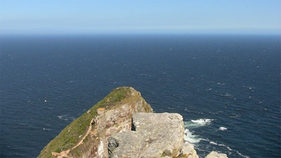 Cape Point, looking S (nothing to spoil the view but Antarctica)