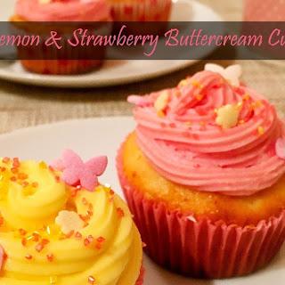 Lemon & Strawberry Buttercream Cupcakes