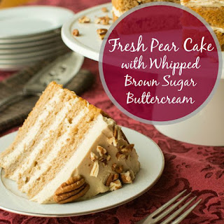 Fresh Pear Cake with Whipped Brown Sugar Buttercream