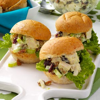 Chicken Salad Party Sandwiches.
