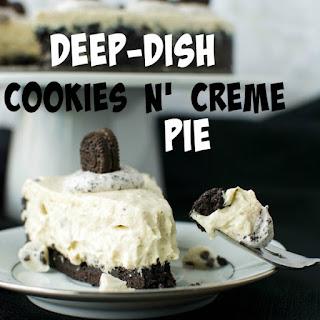 Deep-Dish Cookies n' Creme Pie