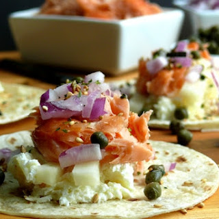Smoked Salmon Brunch Taco Bar.