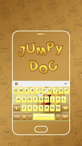 Jumpy Dog Emoji Keyboard Theme
