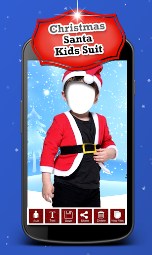 Christmas Santa Kids Suit New