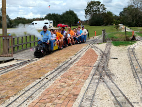 Photo: The last passenger train of the year rolls into the station at 3:03 PM with engineer Pete Green and conductor Rich Businger.       2013-1116 RPW