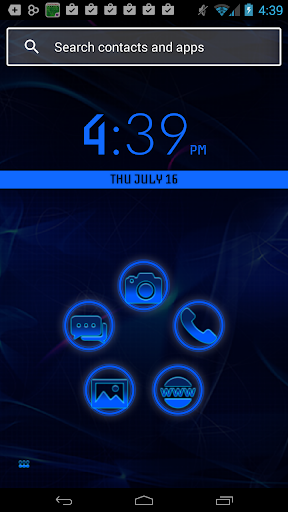 Smart Launcher Blue Neon