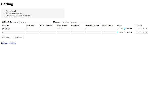 Merge controller for GitHub