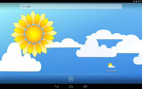 Sun and Clouds Free Live Wallpaper 7