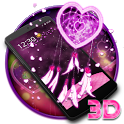 3D Pink Dreamcatcher Heart Theme icon