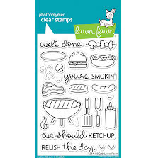 Lawn Fawn Clear Stamps 4X6 - Lets BBQ