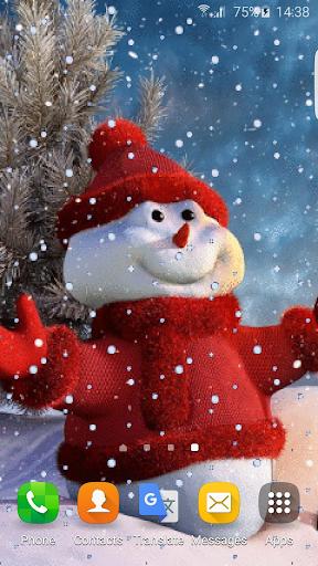 雪だるまアニメーションの壁紙