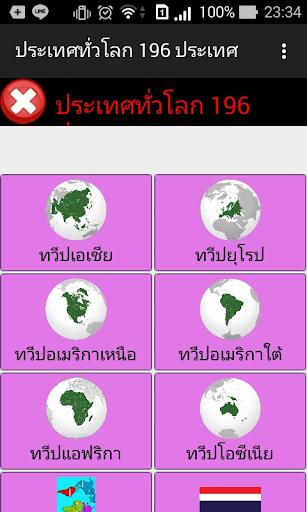 ประเทศทั่วโลก 196 ประเทศ