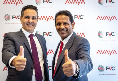(From left to right) Fadi Hani, Vice President – Middle East, Turkey and Africa, Avaya & K.S. Parag – Managing Director, FVC at the signing ceremony (Photo: AETOSWire).