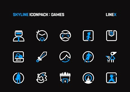 SkyLine Icon Pack : LineX Blue Edition v1.7 [Patched] 4