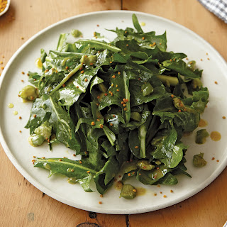 Puntarelle and Dandelion Green Salad with Honey and Olive Vinaigrette