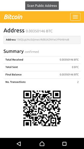 Bitcoin QR Balance  scanner screenshot 1