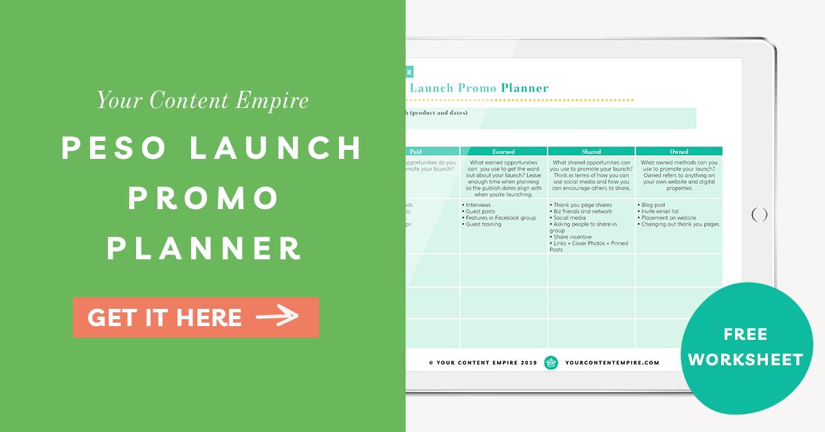 Freebie | PESO Launch Promo Planner