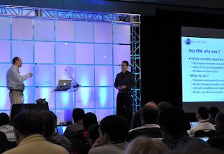 Photo: John Duimovich (IBM)and Mark Reinhold (Oracle)