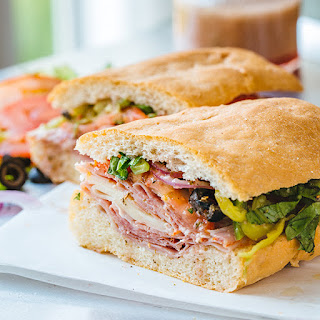 Classic Italian Sub Sandwich with an Herbaceous Red Wine Vinaigrette Recipe