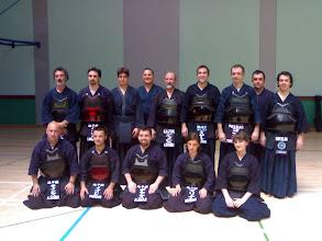 Photo: Foto de grupo: kendokas de sestao con los senseis Antonio, Agus, Oscar y Yonnet