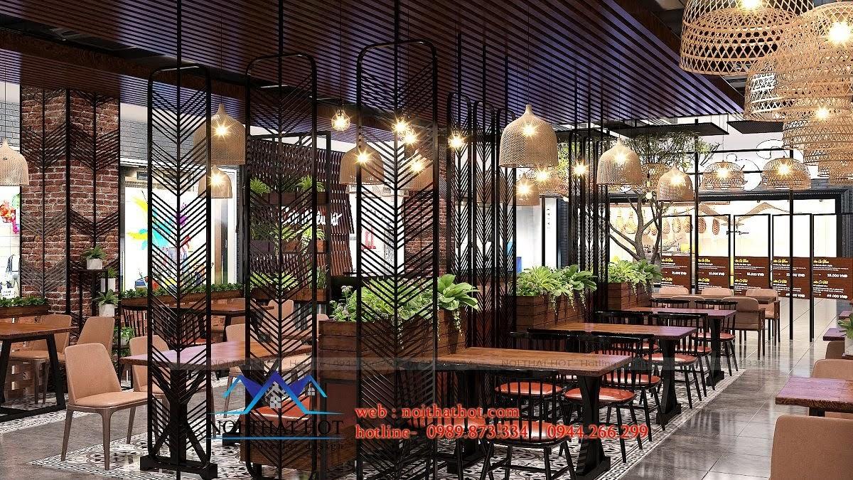 thiết kế nhà hàng vintage