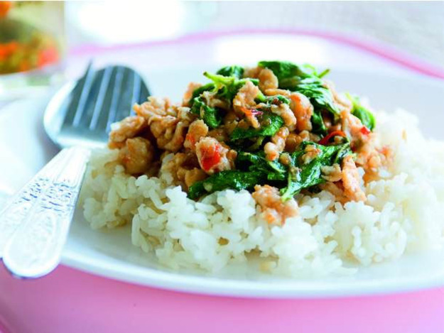 Stir-Fried Chicken with Holy Basil