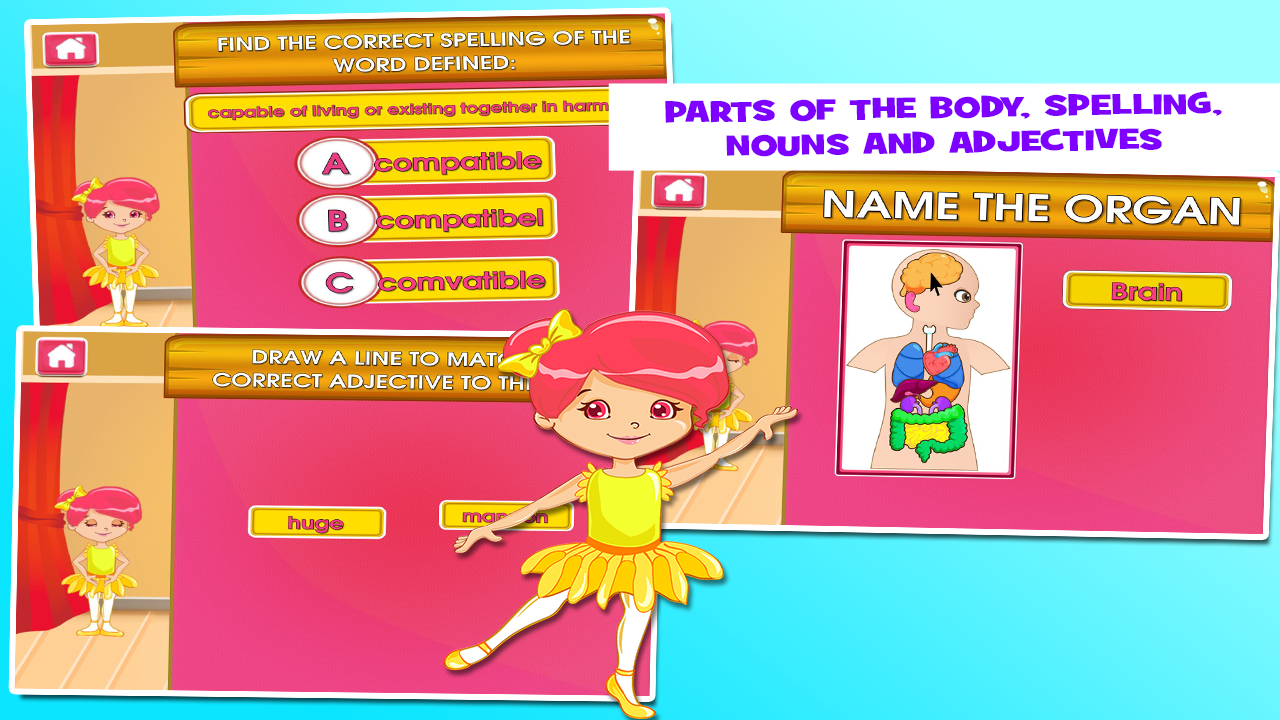 Worksheet 4rth Grade ballerina 4th grade games android apps on google play screenshot