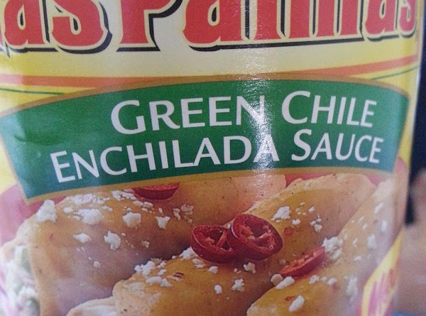 Finally, add 1/2 cup of green enchilada sauce. You can more if you want....