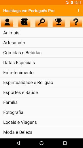Screenshot for Hashtags em Português Pro in Hong Kong Play Store