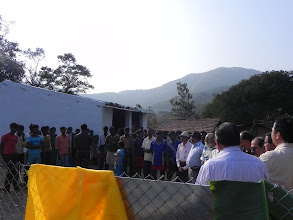 Photo: Villagers and Freemasons turned out in large numbers for the first Jyothirgamaya project at Kapparamajji