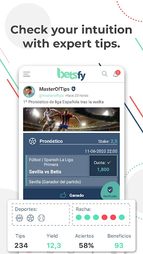Betsfy - the sports betting social network screenshots 2