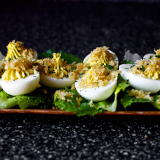 Caesar Salad Deviled Eggs.