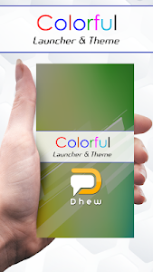 Colorful Launcher Theme FREE screenshot 0