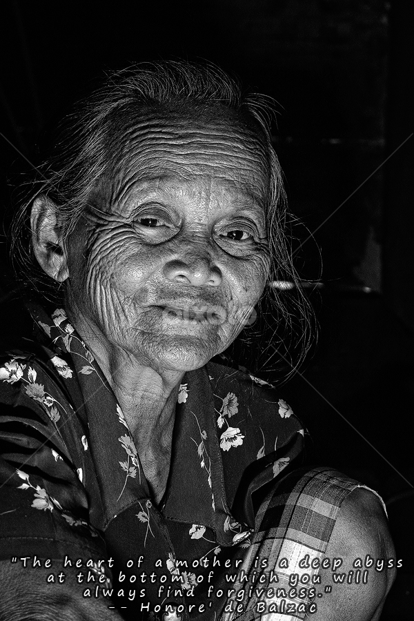a mother smile by Imansyah Putra - Captioned Photos Mother's Day ( mother, smile, mother's day, pwcmothers )
