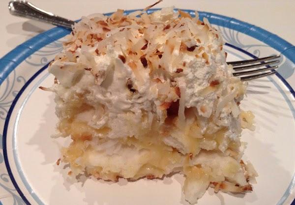 ~ My Coconut Angel Pudding Cake ~ Recipe