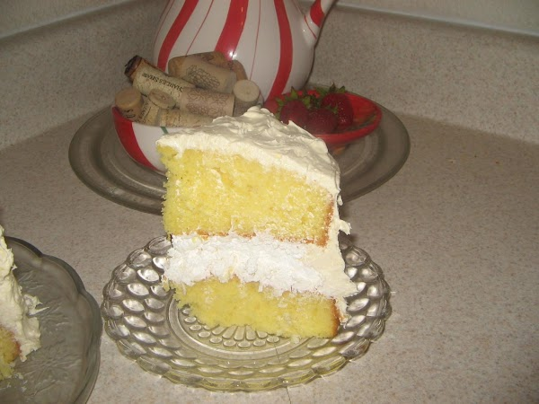 Spread this mixture on the sides of the cake, filling in any gaps between...