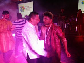 Photo: Ruben and Keshan dancing it off during the Gala Night