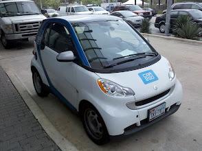Photo: car2go offers micro car rentals for $.35 per minute