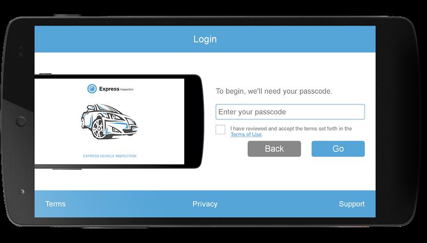 Express Vehicle Inspection Screenshot