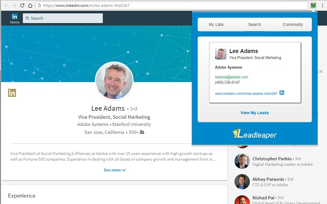 FREE LinkedIn Email Finder - LeadLeaper
