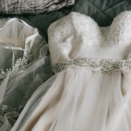 Sparkles by Autumn Wright - Wedding Details ( dress, lace, beads, wedding, getting ready )