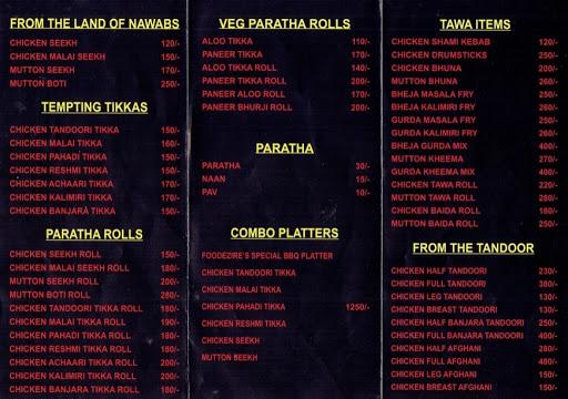 Foodezire menu 1