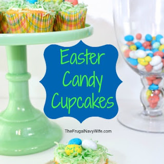 Easter Candy Cupcakes