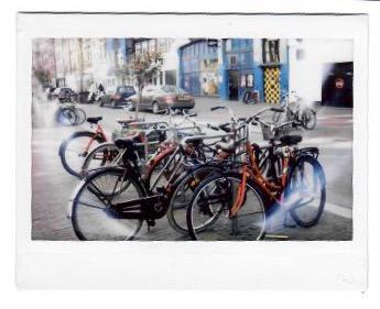 polaroid rode fiets