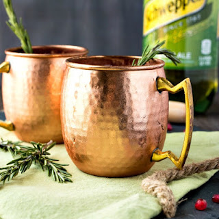 Pomegranate Rosemary Moscow Mule.